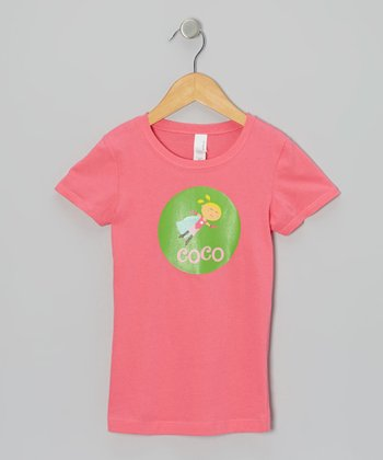 Hot Pink Blonde Super Girl Personalized Tee - Girls