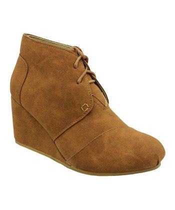 Tan Wedge Bootie