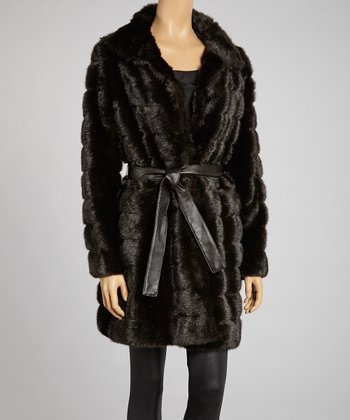 Mink Faux Fur Coat - Women