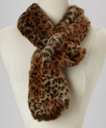 Brown Jungle Leopard Loop Scarf