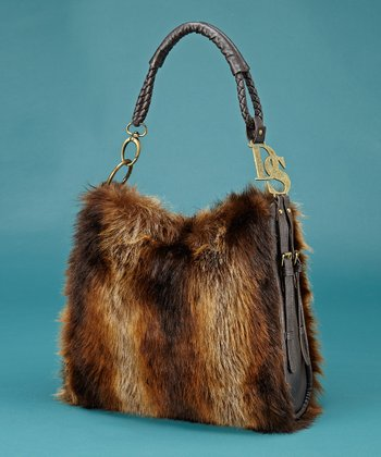 Brown Faux Fur Satchel