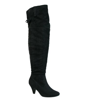 Black Neat Over-the-Knee Boot