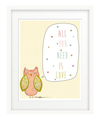 'All You Need is Love' Owl Print