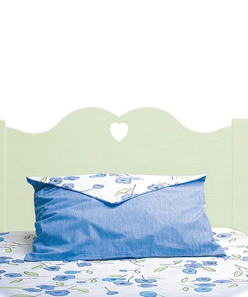 Pastel Green Scalloped Twin Headboard