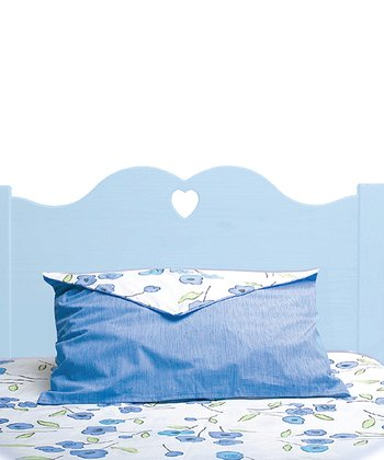Pastel Blue Scalloped Twin Headboard