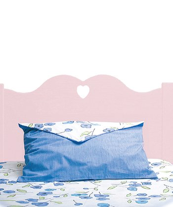 Pink Scalloped Twin Headboard