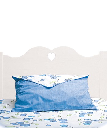 White Scalloped Twin Headboard