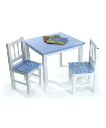 Blue Kids' Table & Chair Set