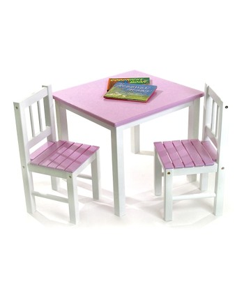 Pink Kids' Table & Chair Set