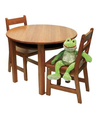 Pecan Round Kids' Table & Chair Set