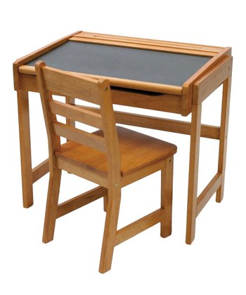 Pecan Kids' Chalkboard Desk & Chair