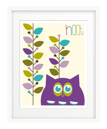 Purple Hoot Leaves Print