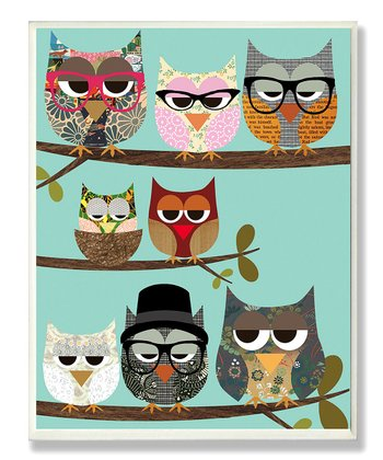 Professional Owls Wall Plaque