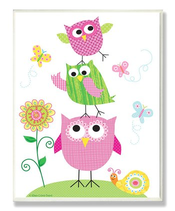 Owl Trio Wall Plaque