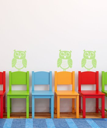 Key Lime Pie Owl Wall Decal - Set of Three