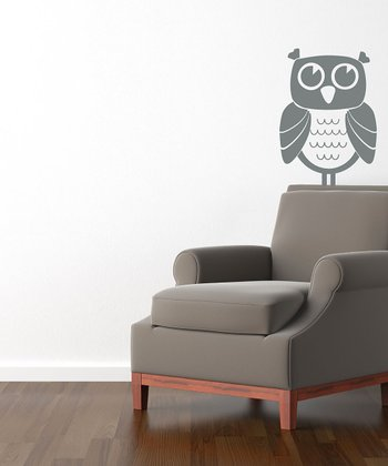 Gray Owl Time Wall Decal