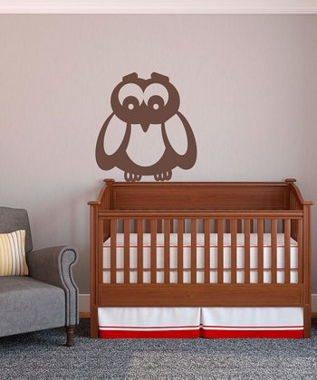 Brown What A Hoot Wall Decal