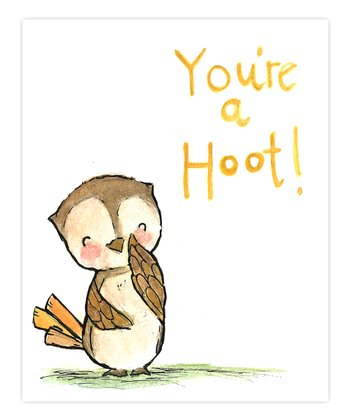 Yellow 'You're a Hoot' Print
