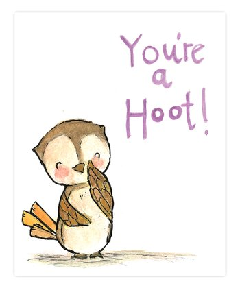 Lavender 'You're a Hoot' Print