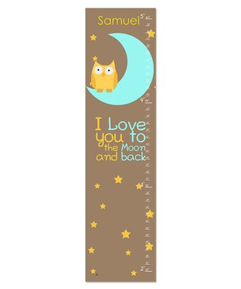 'I Love you to the Moon' Personalized  Growth Chart