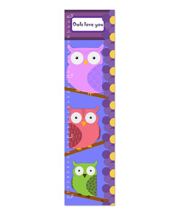 'Owls love You' Personalized  Growth Chart