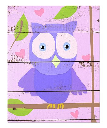 Purple Owl Canvas Art