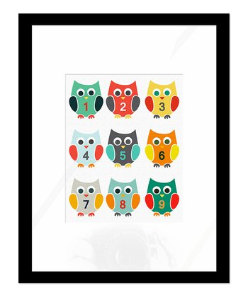 Numbered Owls Print