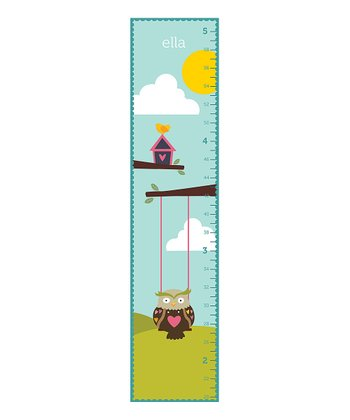 Swinging Owl Personalized Growth Chart