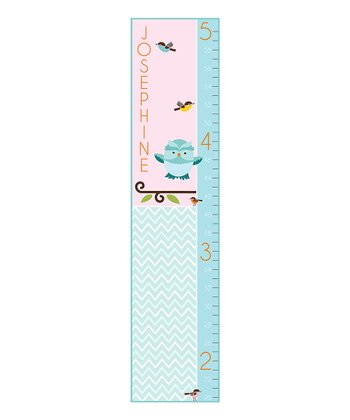 Zigzag Owl Personalized Growth Chart