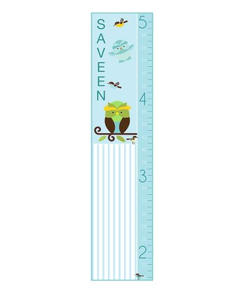 Stripe Owl Personalized Growth Chart