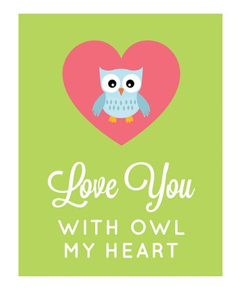 'With Owl My Heart' Print
