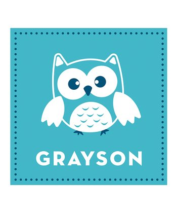 Blue Owl Personalized Print