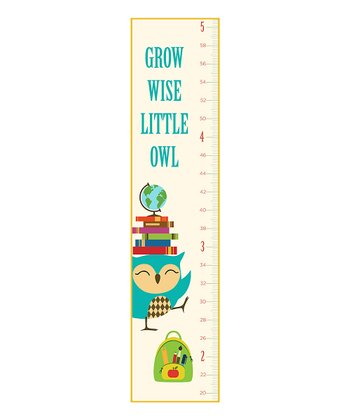 'Grow Wise Little Owl' Growth Chart