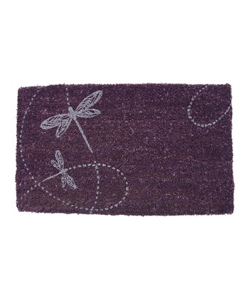 Twirling Dragonflies Handwoven Doormat