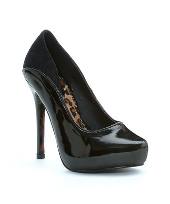 Black Dixie Platform Pump