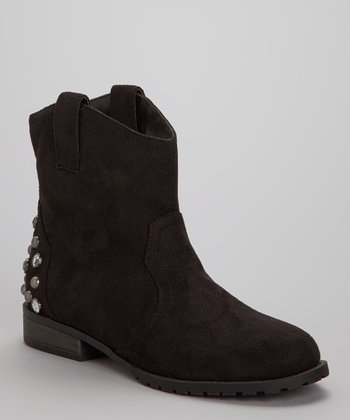Black Studded Philip Ankle Boot