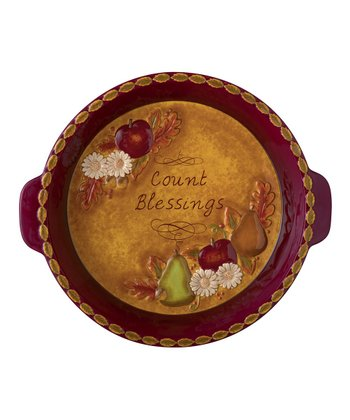 'Count Blessings' Pie Plate