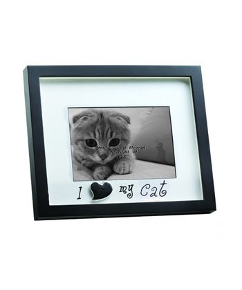 Black 'I Love My Cat' Shadowbox