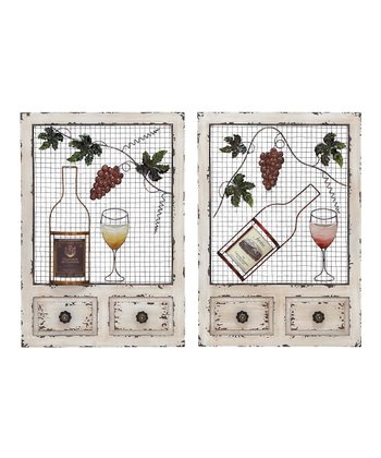 For the Love of Wine Wall Décor Set