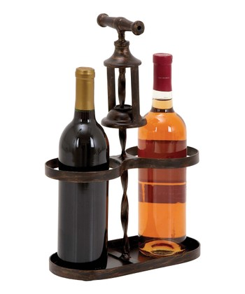 Tap the Barrel Metal Wine Holder
