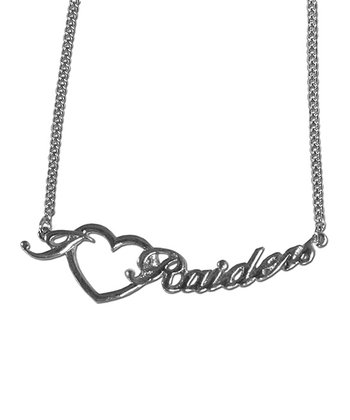 Oakland Raiders Heart Necklace