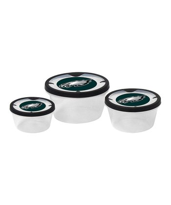 Philadelphia Eagles Three-Piece Container Set