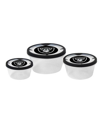 Oakland Raiders Three-Piece Container Set