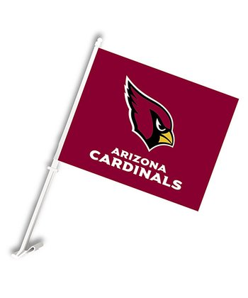 Arizona Cardinals Car Flag & Wall Bracket