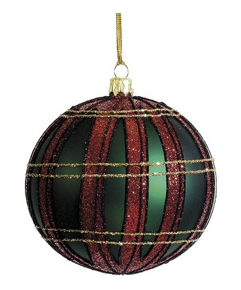 Plaid Ornament Ball