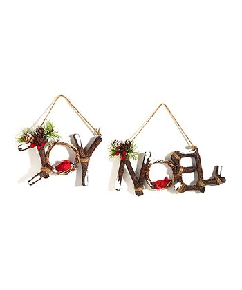 'Joy' & 'Noel' Wall Décor Set