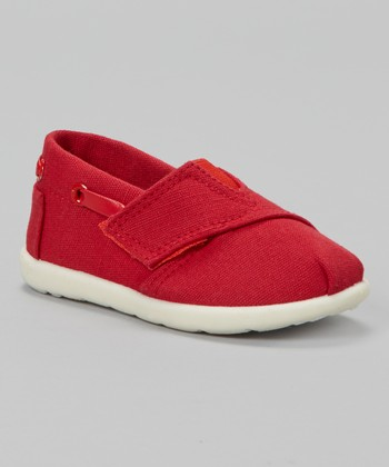 Red Strap Slip-On Shoe