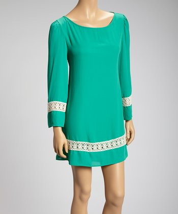 Jade Crocheted Trim Dress