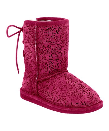 Pom Berry Suede Ellie Boot - Kids