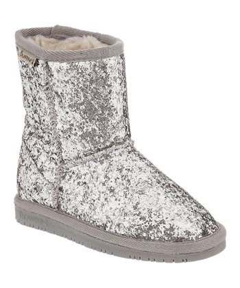 Silver Glitter Cheri Boot - Toddler